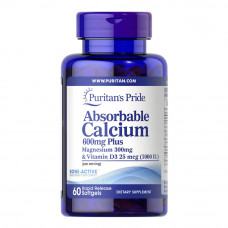 Cálcio Absorvível 600mg mais Magnésio 300mg e Vitamina D 1000iu
