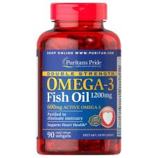 Força Dupla Ômega-3 Óleo de Peixe 1200 mg/600 mg Ômega-3