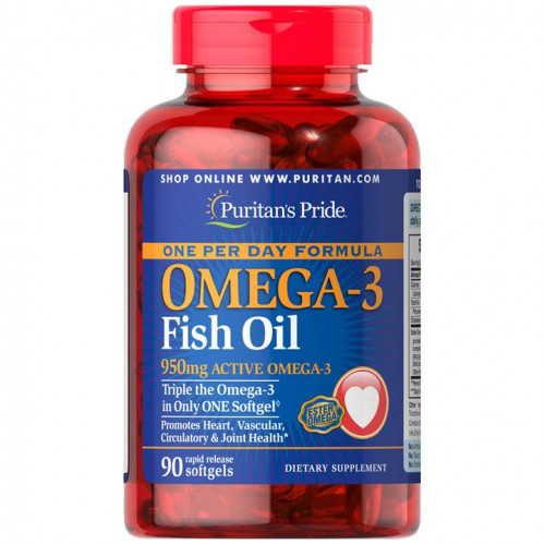 Ômega-3 Óleo de Peixe 1360 mg (950 mg Ômega-3 Ativo) Diário