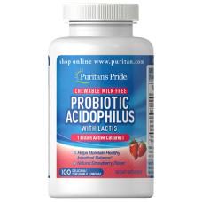 Probiótico Acidophilus (Morangos mastigáveis)
